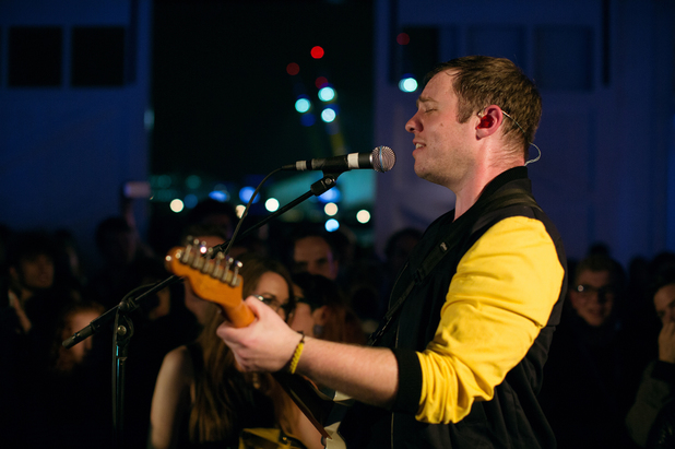 Everything Everything's Jonathan Higgs performs at the Nokia Lumia Live Sessions