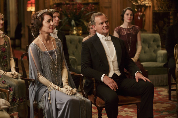 Lady Cora, Tom Branson, Lord Grantham and Lady Mary