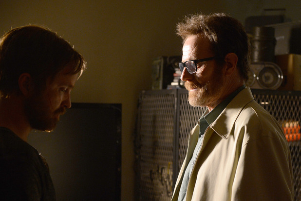 Breaking Bad S05E16 - 'Felina': Jesse Pinkman (Aaron Paul) and Walter White (Bryan Cranston)