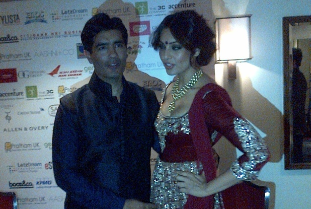 Bipasha Basu and Manish Malhotra at the Pratham UK