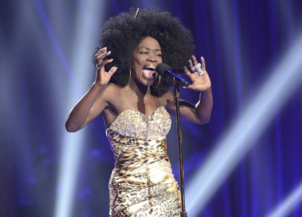 Lillie McCloud performs at the Four Chair Challenge on 'The X Factor USA'