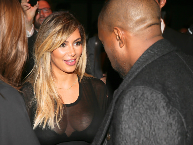 Kim Kardashian and Kanye West - Givenchy show, Spring Summer 2014, Paris Fashion Week, France - 29 Sep 2013