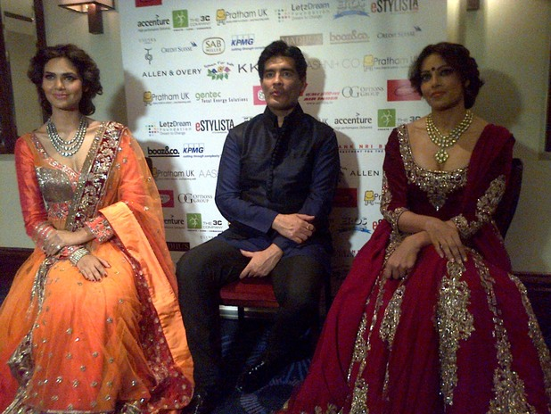 Bipasha Basu, Manish Malhotra and Esha Gupta at the Pratham UK Ball.