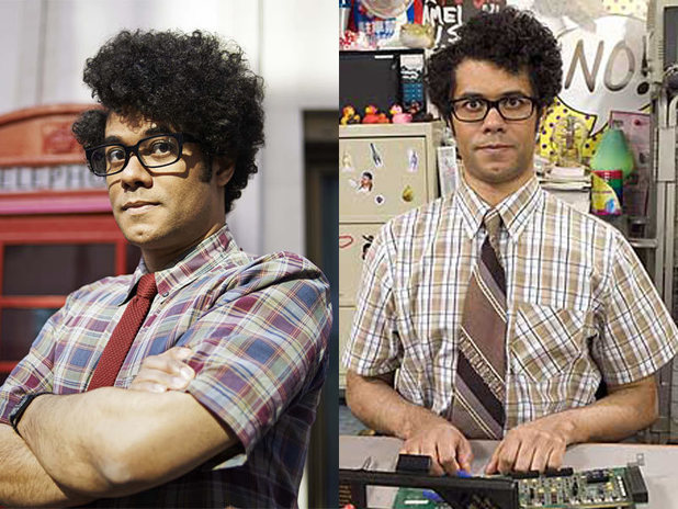 Richard Ayoade in the UK and US versions of 'The IT Crowd'