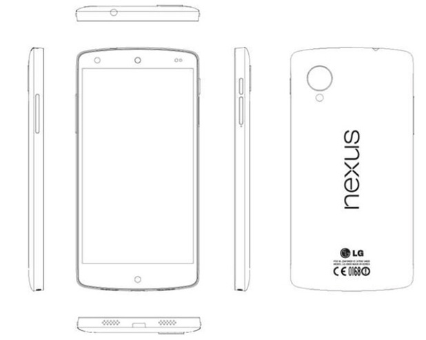 LG Nexus 5 purported line drawing