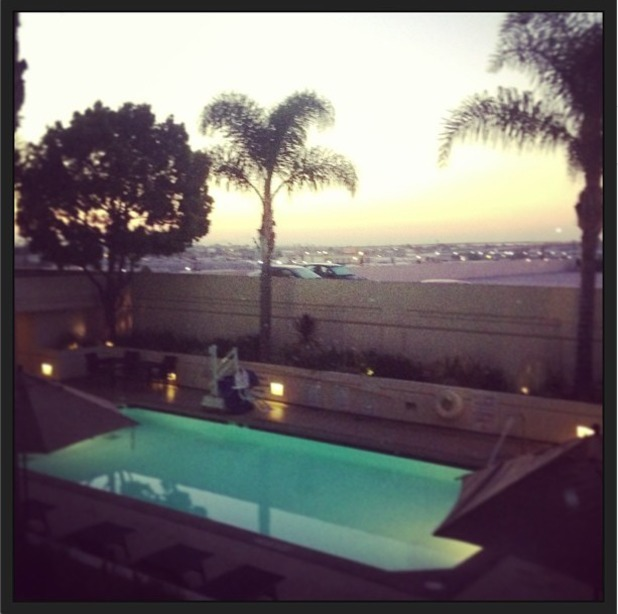 Taylor Hanson's rooftop instagram photo.