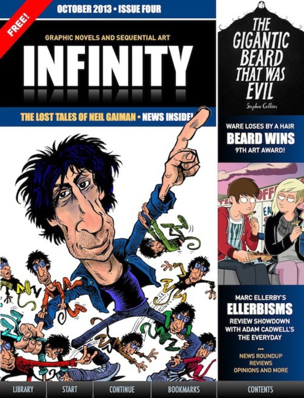 'INFINITY' October issue cover