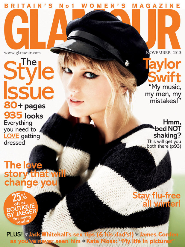 Taylor Swift on the cover of Glamour magazine.