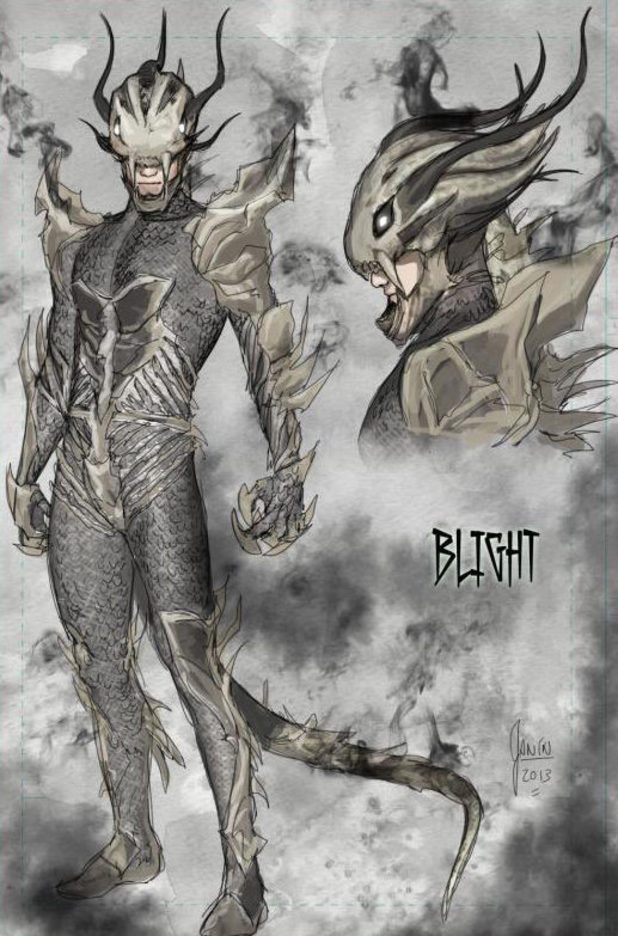 Blight artwork by Mikel Janin