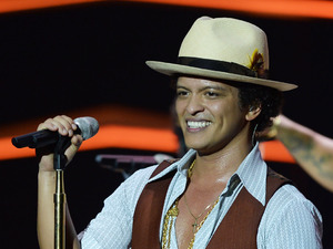 Bruno Mars performing his 'Moonshine Jungle Tour 2013' at The O2 Arena