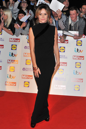 Amanda Holden arriving at the 2013 Pride of Britain awards at Grosvenor House, London.