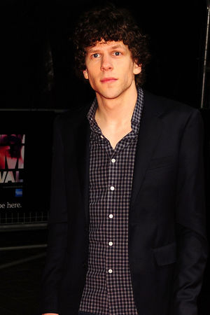 Jesse Eisenberg arriving at the 57th BFI London Film Festival official screening of The Double at the Odeon West End.