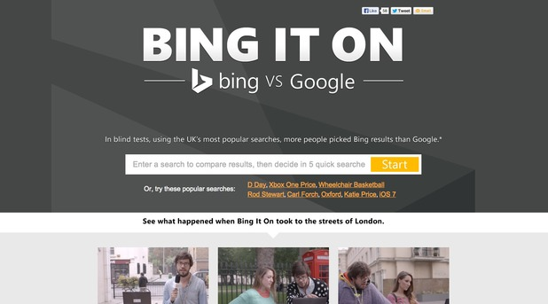 Bing It On homepage screengrab