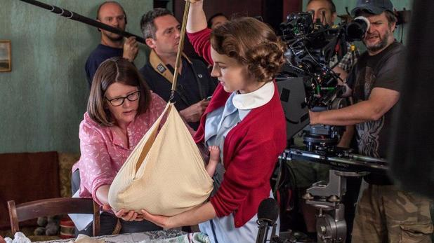 Jessica Raine on Call the Midwife set