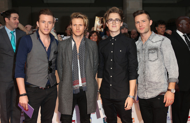 Mcfly arriving at the 2013 Pride of Britain awards at Grosvenor House, London.