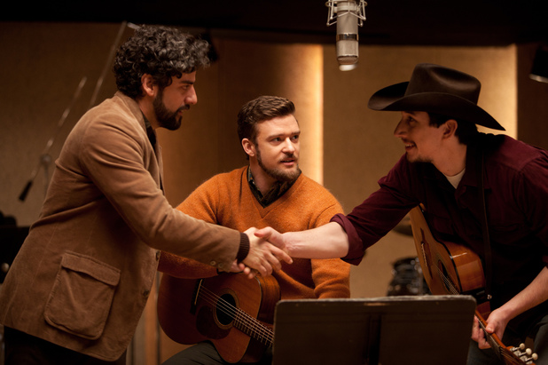 Oscar Isaac, Justin Timberlake, Adam Driver in 'Inside Llewyn Davis'