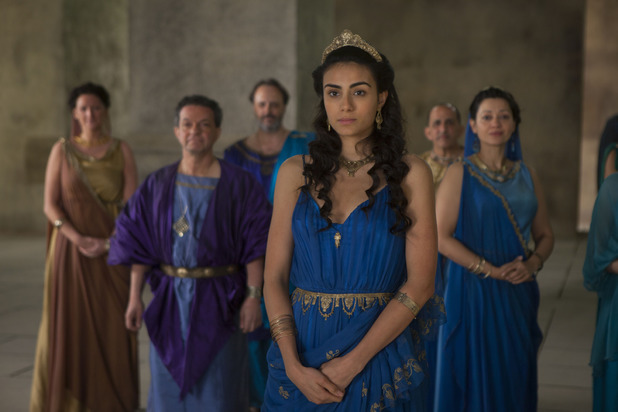 Aiysha Hart as Ariadne in 'Atlantis' episode three
