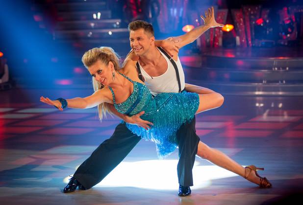 Rachel and Pasha dance the Cha Cha.