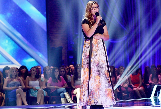 Danie Geimer sings for a place in the girl's group on The X Factor USA