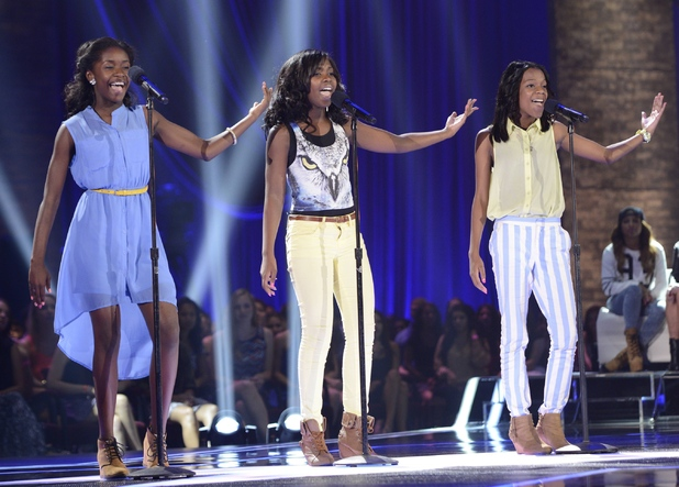 Girl band Glamour perform at the FOUR CHAIR CHALLENGE