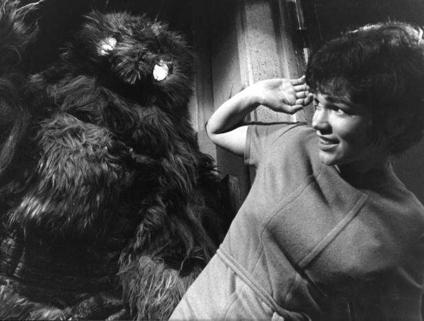 A scene from 'The Web of Fear'.