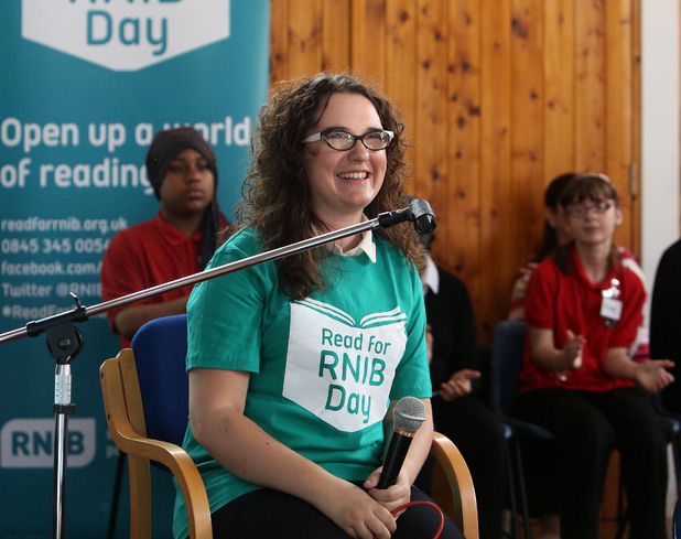 Andrea Begley Read for RNIB Day