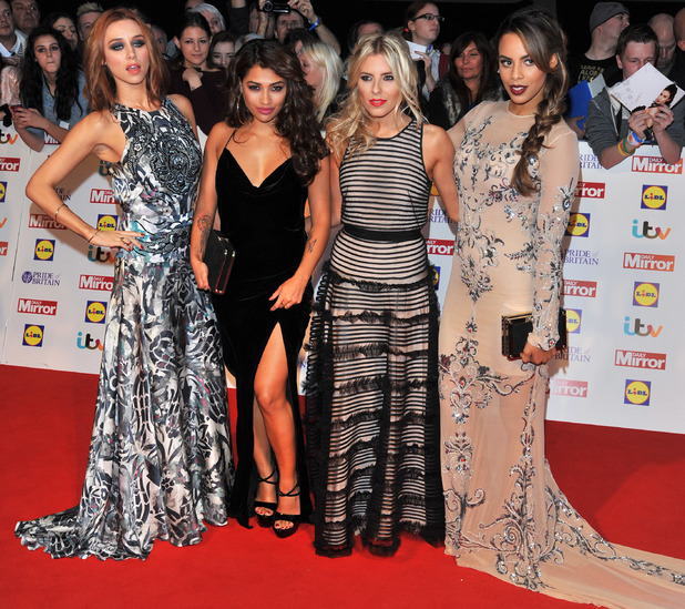 The Saturdays arriving at the 2013 Pride of Britain awards at Grosvenor House, London.