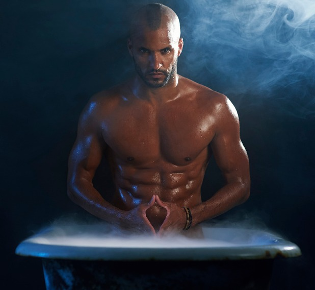Ricky Whittle in the bath for 'In The Tub'