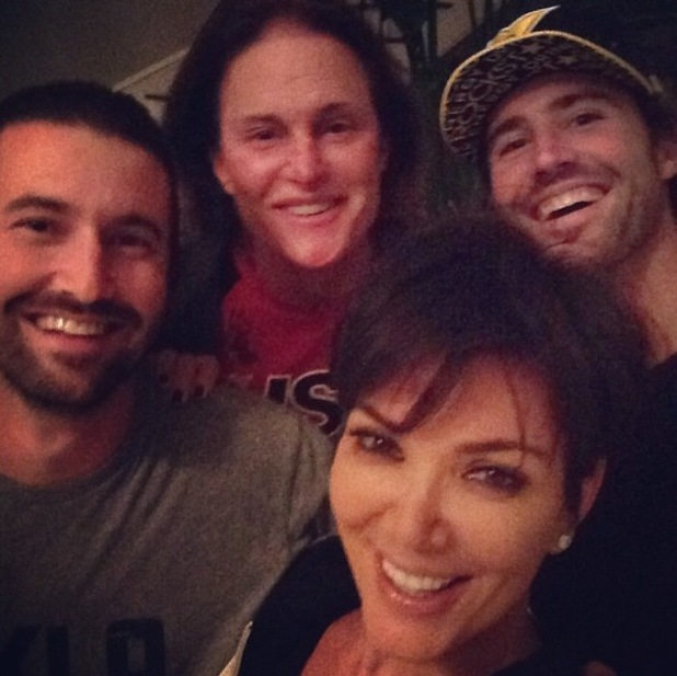Kris Jenner spends time with Bruce Jenner, Brody Jenner and Brandon Jenner