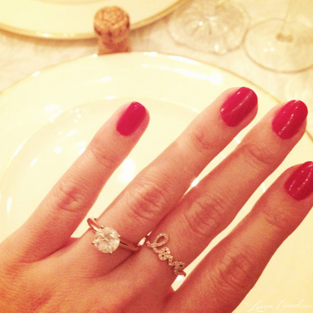 Lauren Conrad reveals engagement ring