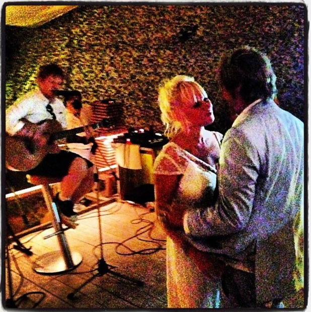 Ed Sheeran performs at his friend's wedding