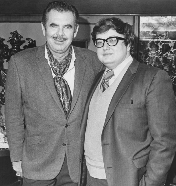 Roger Ebert with Russ Meyer