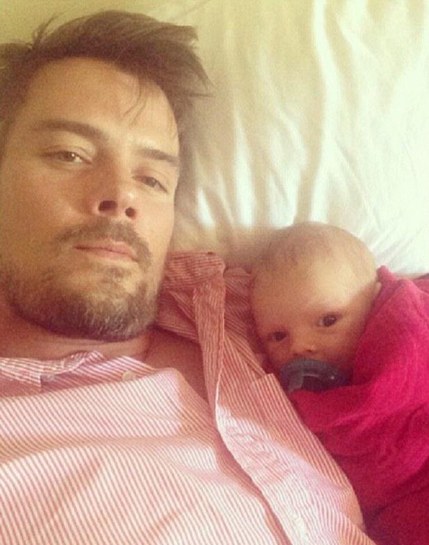 Josh Duhamel with baby Axl Jack