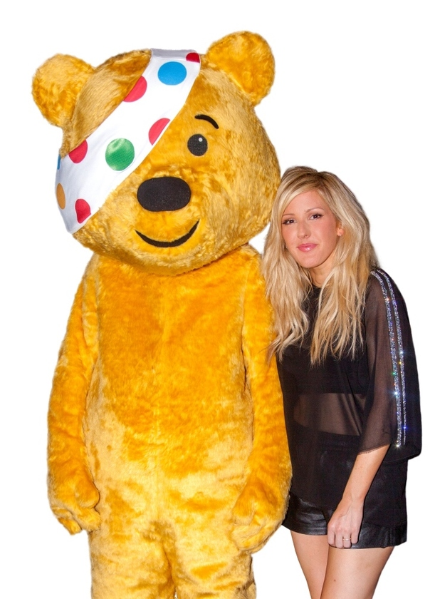Ellie Goulding with Children in Need's Pudsey Bear