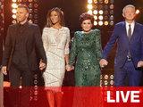 Louis Walsh, Sharon Osbourne, Gary Barlow and Nicole Scherzinger