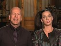 "Katy Perry advises Bruce Willis to ""show some skin"" in SNL promo."