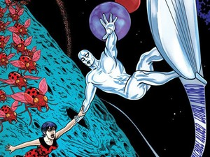 Silver Surfer cover design by Mike Allred