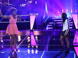 Amber Nicole and Timyra-Joi sing against each other in part 1 of 'The Voice' battles.
