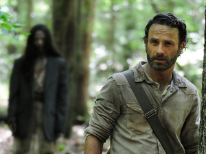 Andrew Lincoln as Rick Grimes in 'The Walking Dead' S04E01: '30 Days Without An Accident'