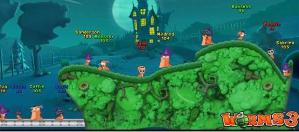Worms 3 Halloween update
