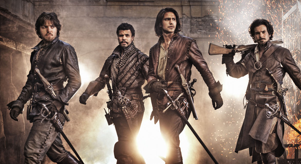 'The Musketeers' on-set action shot