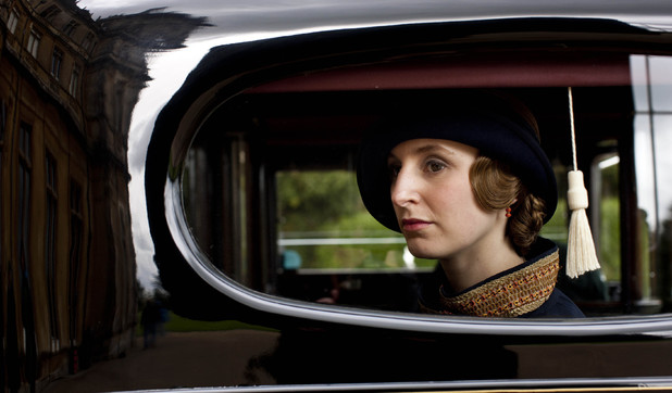 Laura Carmichael as Lady Edith in 'Downton Abbey' S04x05