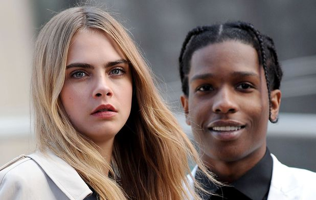 DKNY photoshoot, New York, America - 14 Oct 2013Cara Delevingne and Asap Rocky