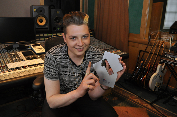 John Newman celebrates his debut number one album
