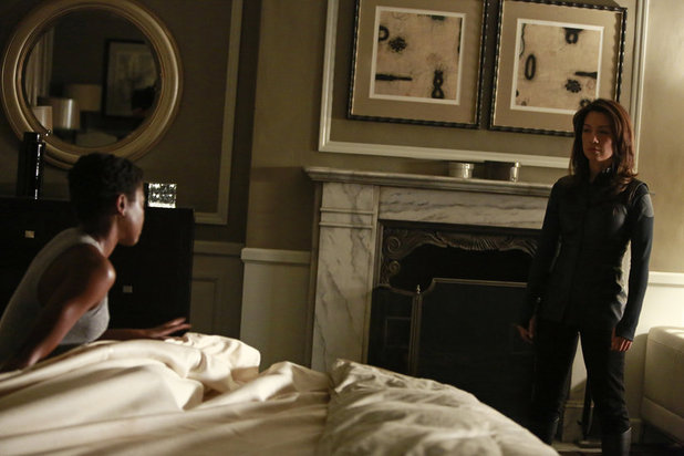 Pascale Armand as Akela Amadour and Ming-Na Wen as Melinda May in 'Agents of SHIELD' S01E04: 'Eye Spy'