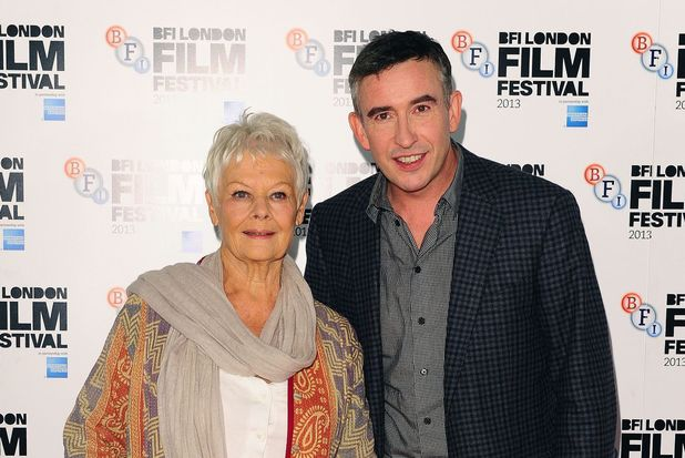Dame Judi Dench and Steve Coogan at a photocall for their new film 'Philomena' at the Claridges Hotel in London, as part of the 57th BFI London Film Festival.