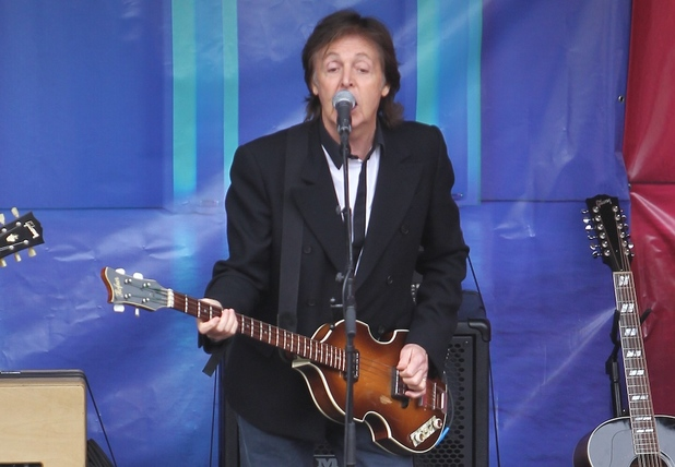 Paul McCartney free concert in covent garden for the release of his new rec...