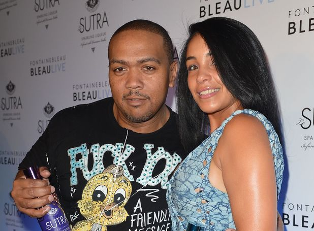 Timbaland and Monique Mosley at the Timbaland LeSutra Sparkling Liqueur Launch