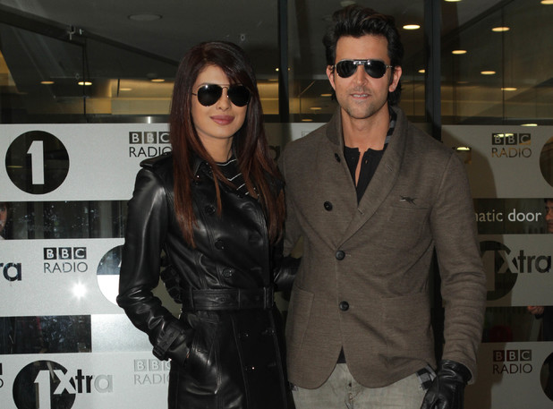 Celebrities at the BBC Radio 1 studios - People: Priyanka Chopra, Hrithik Roshan