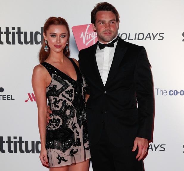 Una Healy and Ben Foden at the 2013 Attitude Magazine Awards at the Royal Courts of Justice in London.